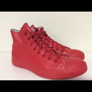 Rare🔥 converse all star red rubber high top